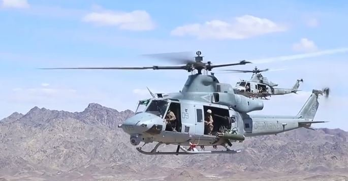 Click image for larger version  Name:Huey UH-1Y's each armed with GAU-21 Machine Gun and M134 Minigun.JPG Views:9 Size:41.0 KB ID:11409